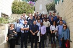 6. Foto di gruppo con p. Iyad Tawal alla Bethlehem University